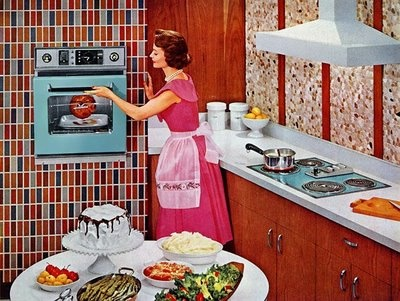 I wish you could still get a kitchen that looked like this. I love the colors of the appliances! I'd pick a different cabinet wood and counter top though.