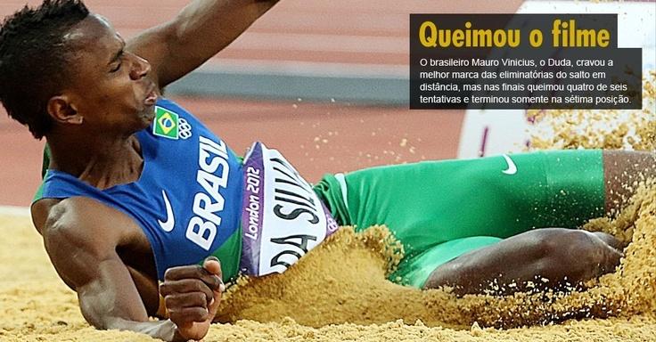 O brasileiro Mauro Vinicius, o Duda, cravou a melhor marca das eliminatórias do salto em distância, mas nas finais queimou quatro de seis tentativas e terminou somente na sétima posição