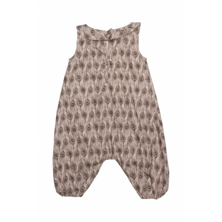 Mønstrede Mini A Ture baby overalls.