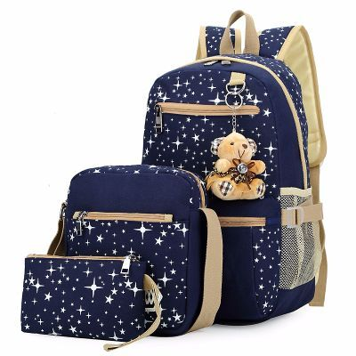 Fashion Women Canvas Backpack Schoolbags http://mobwizard.com/product/a-three-piece-32643561596/