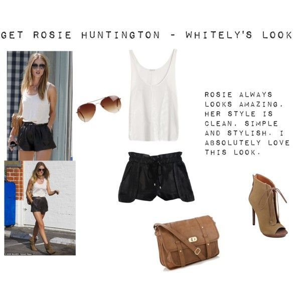 """""""Get Rosie Huntington - Whitely's Look"""" by thewhiteboard on Polyvore"""