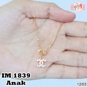 Perhiasan Kalung Emas Branded M 1839 Anak