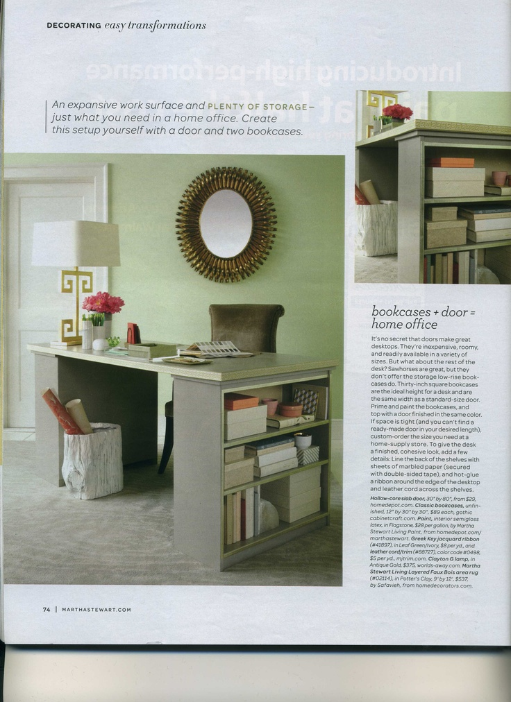 Clever Desk Idea (Martha Stewart magazine) | Organization