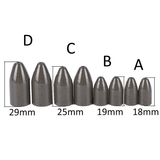 42pcs Egg Sinker Weight Fishing Lead Sinkers Olive Bass Casting Weight