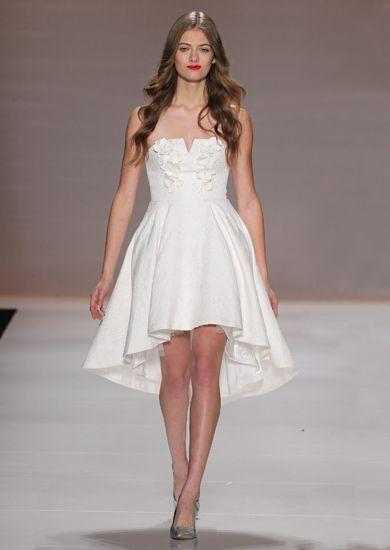 Narces Lula dress. White embellished strapless high low dress. #fashion #dresses #ootn #runway #designer