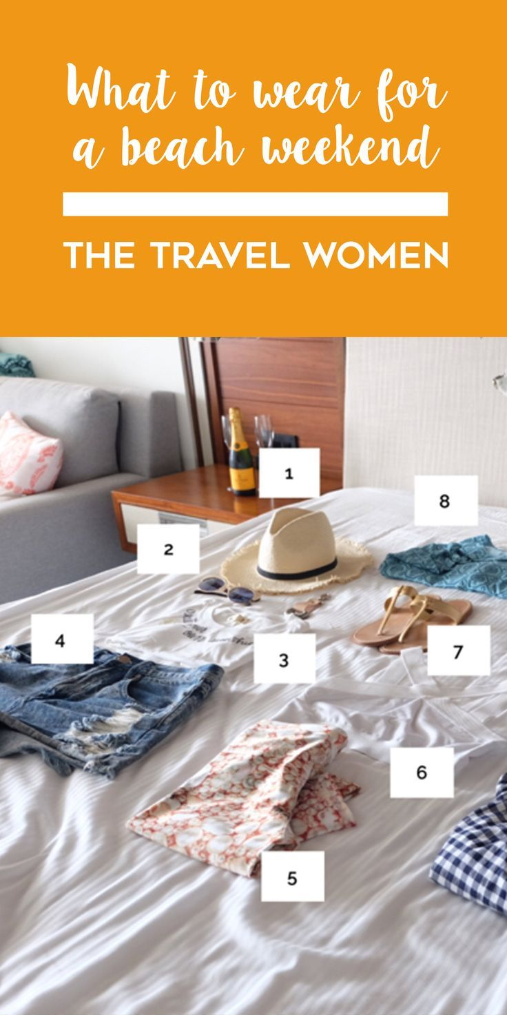 It's that wonderful time of year where everyone comes to work on Friday with a duffel bag, ready to book it to the beach after lunchtime and soak up as much sun and sand as possible before Monday rolls around. Find out what to wear for a beach weekend by clicking on this picture. | The Travel Women #beach #packingguide #styleguide #beachstyle