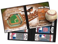 Personalized Baltimore Orioles MLB Ticket Album - A Personalized Orioles Ticket Album puts your name right on the cover. It's a photo album for your tickets and allows you to create a table-top display that will keep the memories of the games you've attended as fresh as the day you were there. Also makes an ideal item to present tickets as a gift and a perfect item for season-ticket holders. www.thatsmyticket.com