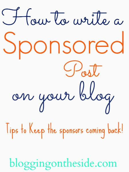 How to write a sponsored blog post (you can make between $5 & $800 per post- we've done this & so can you... just make your posts great!)