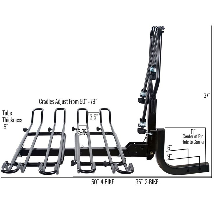 Piggyback bicycle rack dimensions with extension