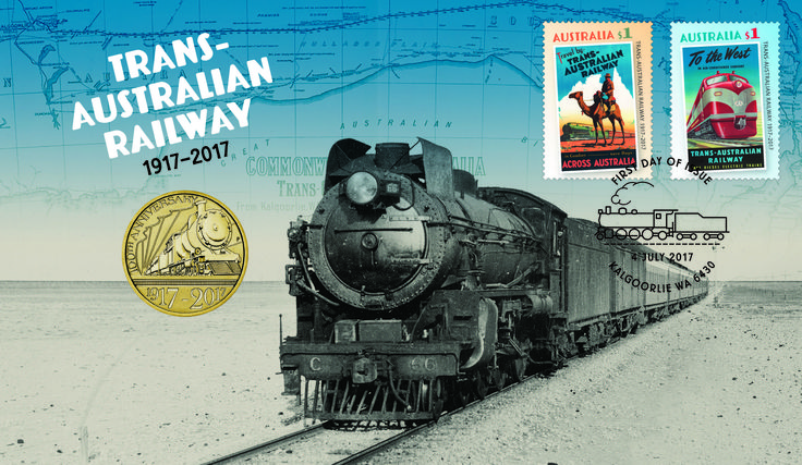 Trans Australian Railway 2017 Stamp and Coin Cover