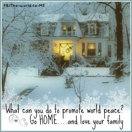 Nothing looks cozier than a warm home in the snow.