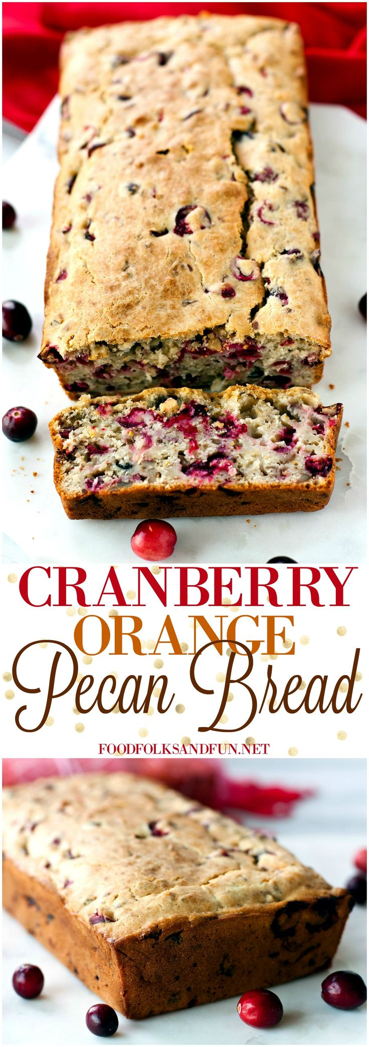 This is a great Cranberry Bread Recipe that's packed with orange flavor and pecans. Plus it makes 2 loaves! #SweetSwaps #CleverGirls [ad]
