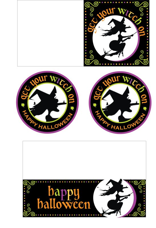 witch printables for halloween - Halloween Decoration Printables