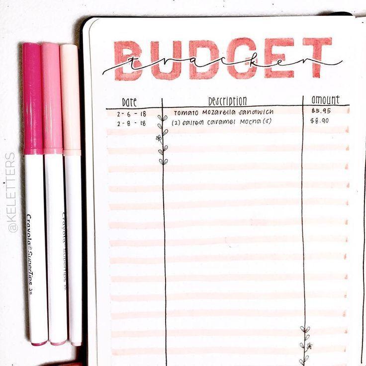 20+ Bullet Journal Budget Layouts Nur für Leute, die mit Geld saugen