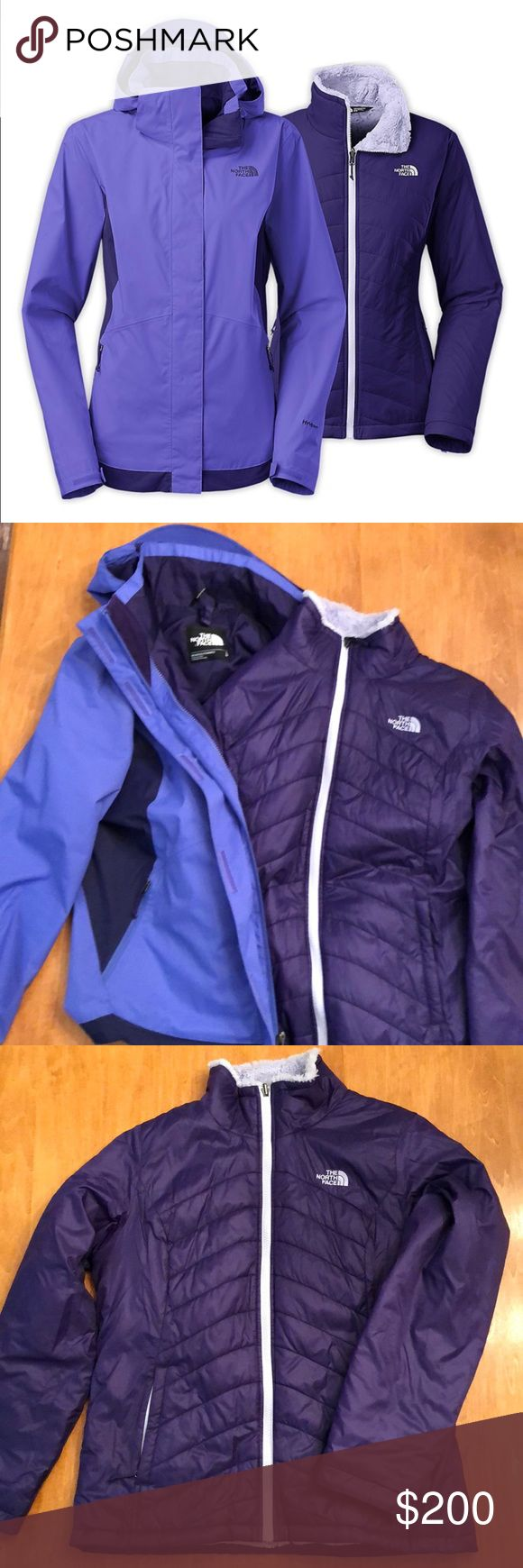 The North Face 3-in-1 ski winter snowboard jacket EUC. The North Face Mossbud Swirl Triclimate parka. Beautiful 3-in-1 ski, winter, or snowboard jacket. Size L. Warmest jacket. Like new. Pet free, smoke free home. North Face Jackets & Coats