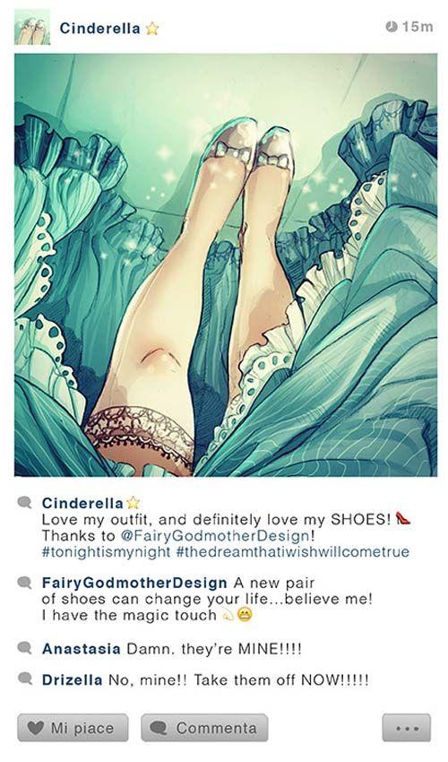 If Disney characters had Instagram