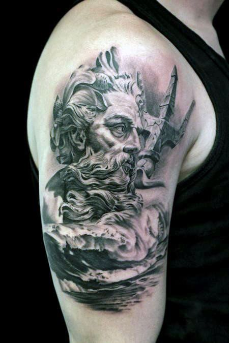 Poseidon Tattoo Swimming For Men