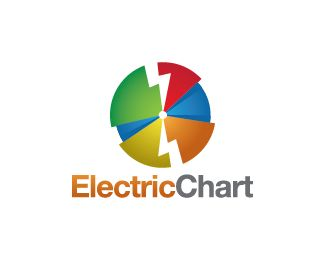 Electric Chart Logo design - Logo design of a chart with lightnings inside it. Price $250.00