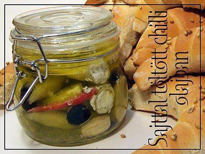 Sajttal töltött chilli olívaolajban | Fűszer és Lélek
