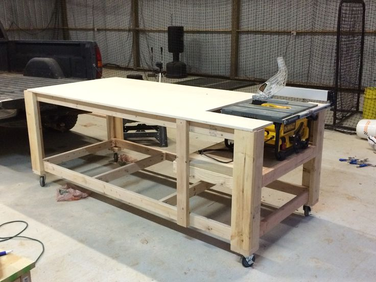 3 of 3 Table saw, Table saw station, Table design