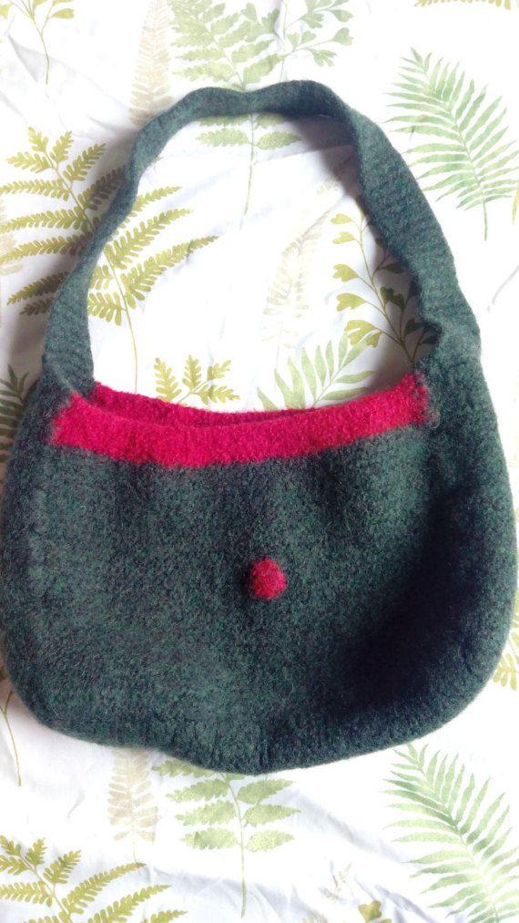 Hand made felt bag by Nokireki on Etsy