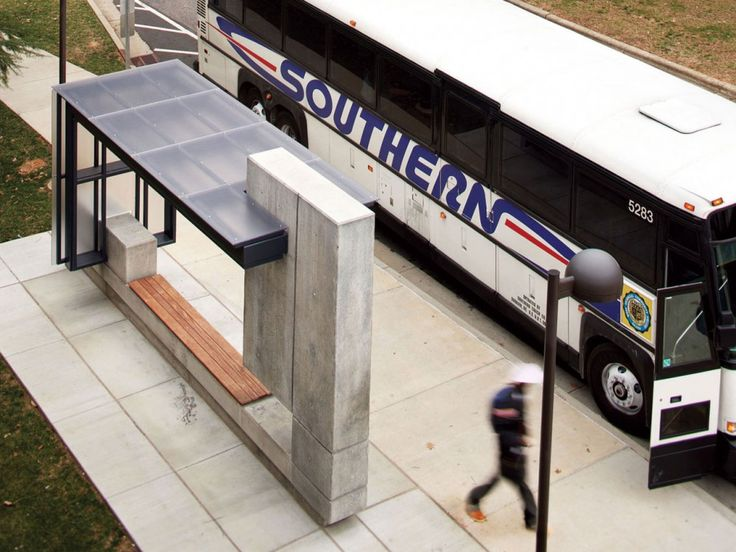 bus shelter. minimal. shapes. intersections. materials.