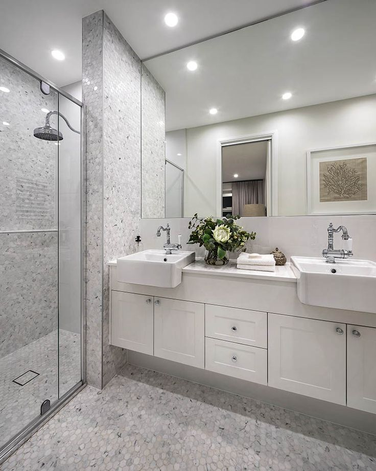 Bathroom of the harmony exclusive with aspire facade on display at warwick farm