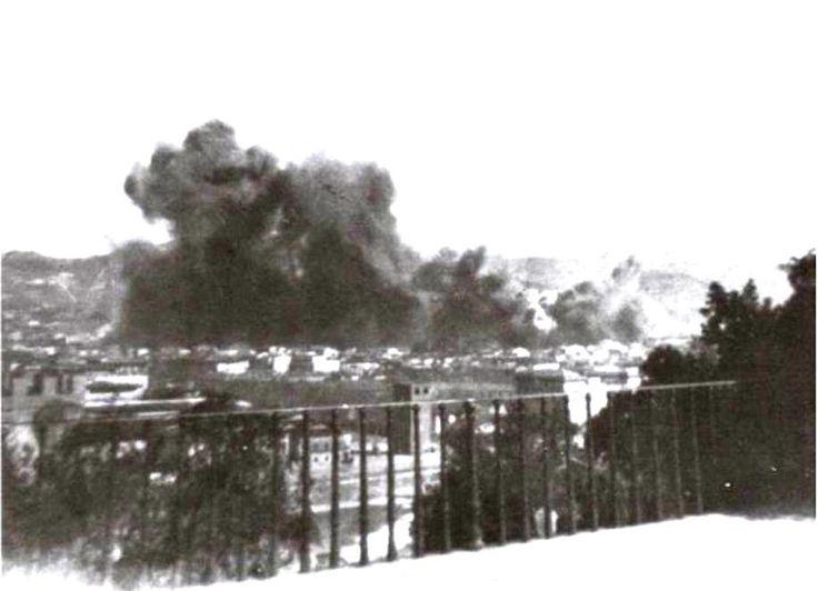 The bombing of Campo di marte