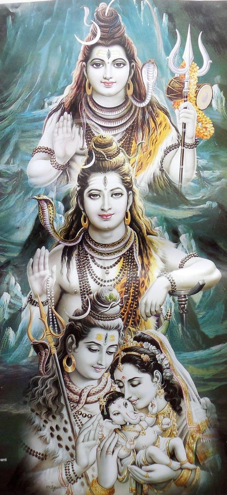 Vintage-Calendar-Print-Hindu-God-Shiv-Roop-op-478.jpg (734×1600)