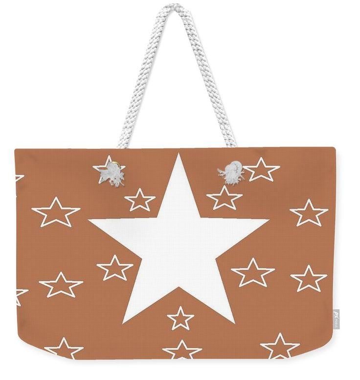 Weekender Tote Bags of 'Texas Stars Forever' by Sumi e Master Linda Velasquez.