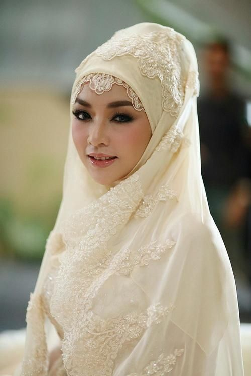 exquisite bride with hijab