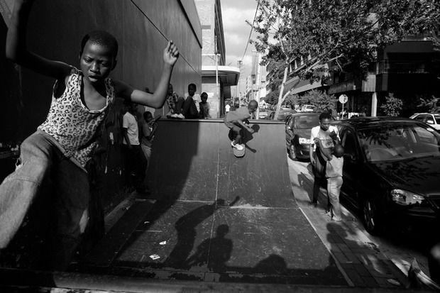 Skate futhi bhuqa, Maboneng, Johannesburg, South Africa.