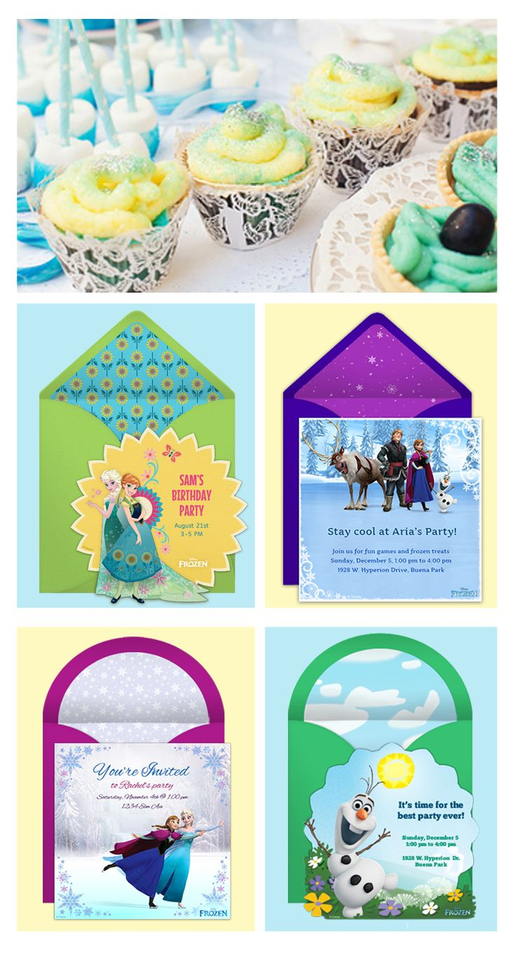 131 best Frozen Birthday Ideas images – Punchbowl Birthday Invitations