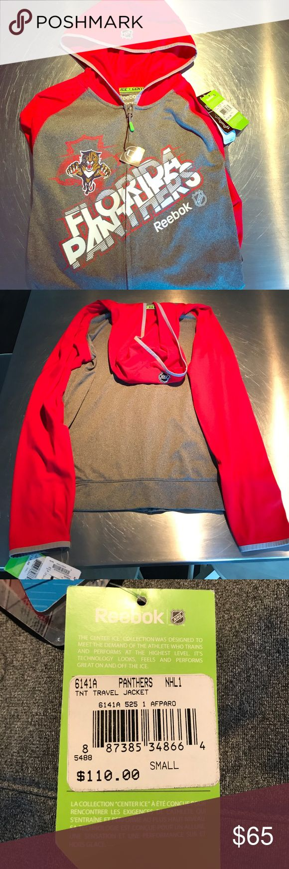 NWT Reebok NHL Panthers hoodie men's small😍 Amazing brand new with tags Reebok center ice collection hoodie in size men's small play dry material retails for 110 Shirts Sweatshirts & Hoodies