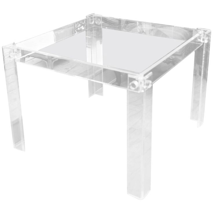 Mid Century Lucite Game Table