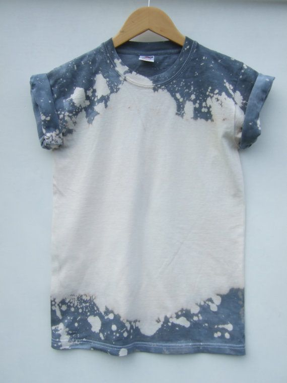 Grey/White Tie Dye Shirt Size S With a by tappingtonandwish