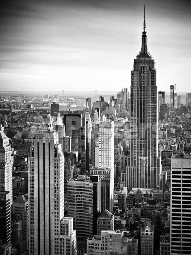 Lifestyle Instant Skyline Empire State Building Manhattan Black And White Photography Nyc Us L Black And White Landscape City Landscape White Photography