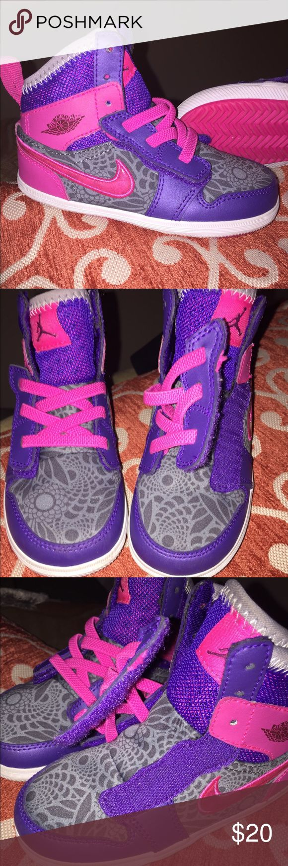 brand new, never worn super cute Jordan's brand new, no box Jordan's with elastic velcro shoe laces perfect for toddlers // no trades Jordan Shoes Sneakers