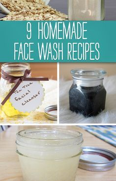 Wondering how to make a homemade face wash? Try one of these 9 #DIY recipes.