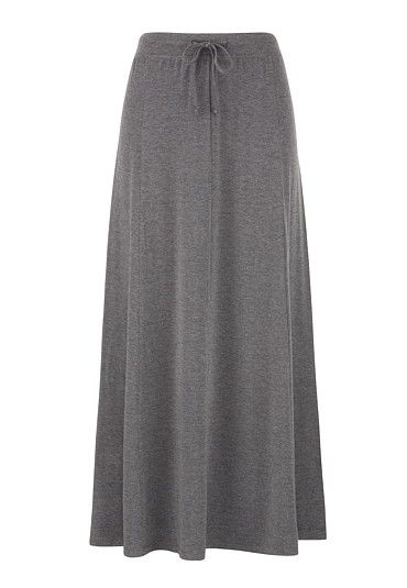Solid Knit Maxi Skirt available at #Maurices