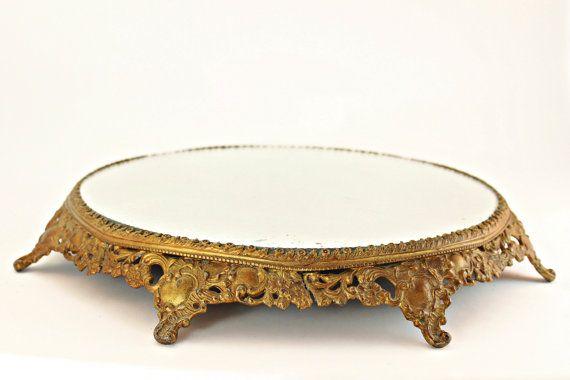 Antique Vanity Plateau Mirror, Victorian Plateau Vanity Mirror, Antique Plateau, Vintage Table Decor, Antique Vanity Mirror, Antique Mirror