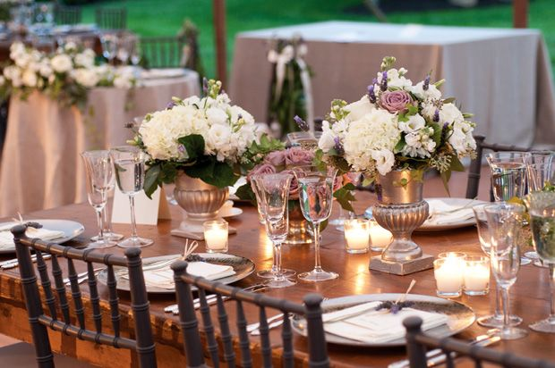 Beautiful Blooms Events - Garden Luxe Candlelit Rustic Tablescape
