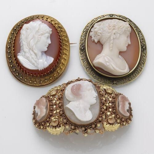 1469 mejores imgenes de camafeos en pinterest two antique cameo brooches and a cameo bracelet aloadofball Gallery