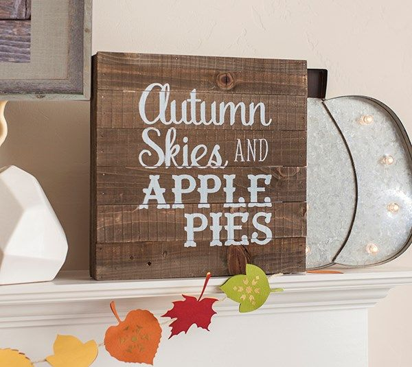 Autumn Skies and Apple Pies  Autumn skies and apple pies are some of my favorite things that Fall brings. I decided to celebrate my favorite things with a custom piece of wall art. This project uses images from the Cricut® 3D Floral Home Decor, Soiree Lettering, and Lyrical Letters 2 digital cartridges.  xoxo, Anna Rose  DIY, created with a Cricut, make it now, make it yourself