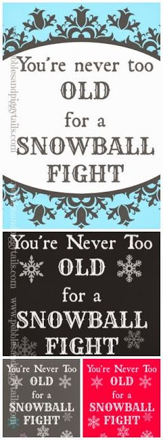 Super DUPER cute snow printables for FREE.  These are great printables for winter, Christmas party or decor or just a fun indoor snowball game.