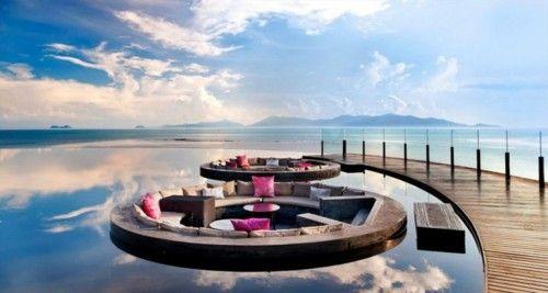 Interesting: Whotel, Living Rooms, Kohsamui, Retreat Koh, W Hotels, Koh Samui Thailand, Design, Sit Area, Fire Pit