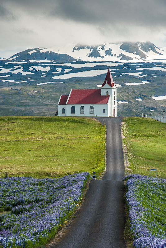 IcelandCountry Church, Postcards, Post Cards, The Roads, Beautiful, Art Abroad, Old Church, Places, Iceland Church