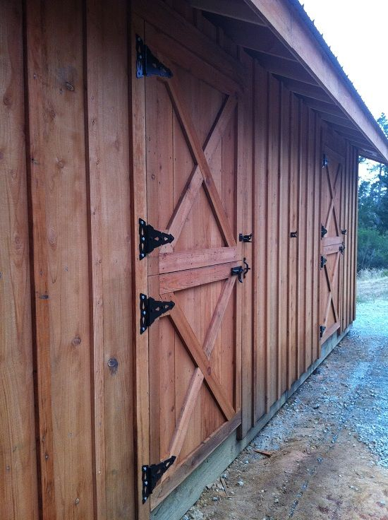 122 best images about horse stall door ideas on pinterest for Rustic pole barn