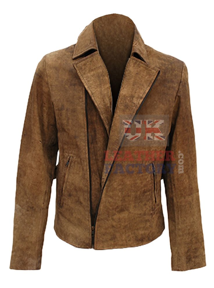 Kurt Russell inspired distressed motorbike leather jacket is a fine apparel to mix with denims and stronger toned shirts.Formal but show of strength is quite visible in the attuned design. Lapelled collar for formal wear.
