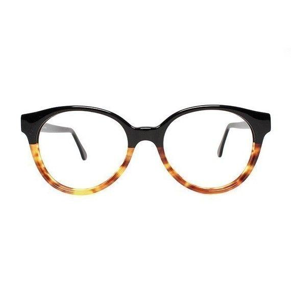 Duo-Tone Black and Tortoise Shell Glasses